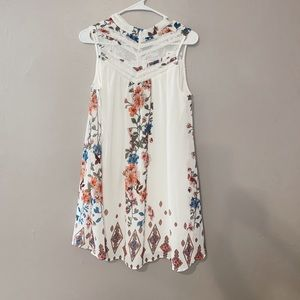 floral high neck francesca's dress/ NWT